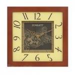 Часы настенные Scarlett SC-33C квадр плав дер/стекло дер/беж