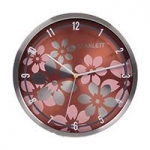 Часы настенные Scarlett SC-33B круг плав алюм метал/корич