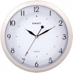 Часы настенные Scarlett SC-55I круг плав ст/пласт беж/бел