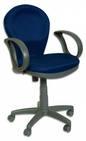 VB Кресло CH-687AXSN, ткань синяя, пластик черный