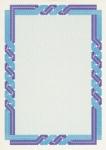 Сертификат-бумага Decadry  (A4, сине-голубая крученая, 25 листов)