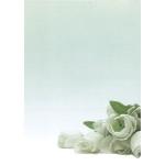 12126 Дизайн-бумага Белые цветы (А4, 90г, пач.20л)