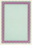 Сертификат-бумага Decadry  (A4, фиолетово-зеленая, 25 листов)