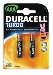 батарейка DURACELL Turbo AAA/LR03 алкалин. бл/2