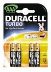 батарейка DURACELL Turbo AAA/LR03 алкалин. бл/4
