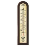 Термометр спиртовой (цв.махагон)