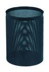 для мусора метал. низкая N61 черная 250ммх330мм перфорир