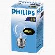 Philips шарик/прозрачная 40W E27 CL/P45 (10/100)