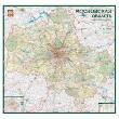 Авто карта Москвы, наст.карта 1:30000 метал.багет,пенокарт,л