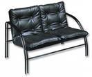 Мягк.меб*D_Тодес-2 диван офисный 2х местн.черн.