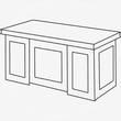 BERN брифинг-приставка, BRN 86712, 100*70*76 палисандр