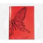 Обложка для паспорта Askent Райский остров, красный