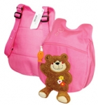 Рюкзак детский 5455B 30*22см Мишка на розовом EaSTar