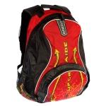 Рюкзак молодежный РМ-1126 черный-красный