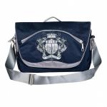 Молодежная сумка с отделением для ноутбука MN 247-4(синяя-св.серая)